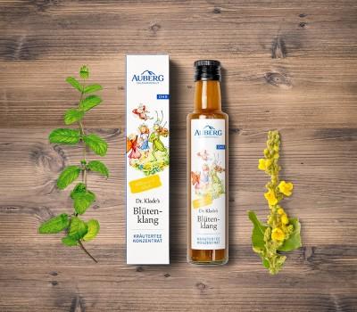 Auberg_Produktcollage_Bluetenklang_Teekozentrat
