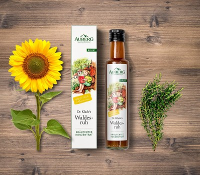 Auberg_Produktcollage_Waldesruh_Teekonzentrat