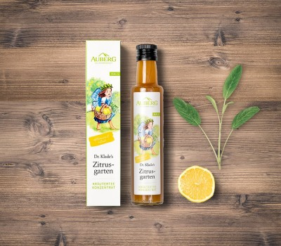 Auberg_Produktcollage_Zitrusgarten_Teekonzentrat