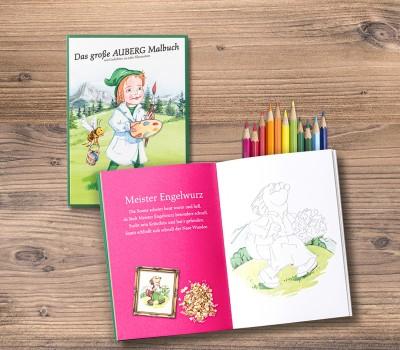 Auberg-Produktcollage-Malbuch